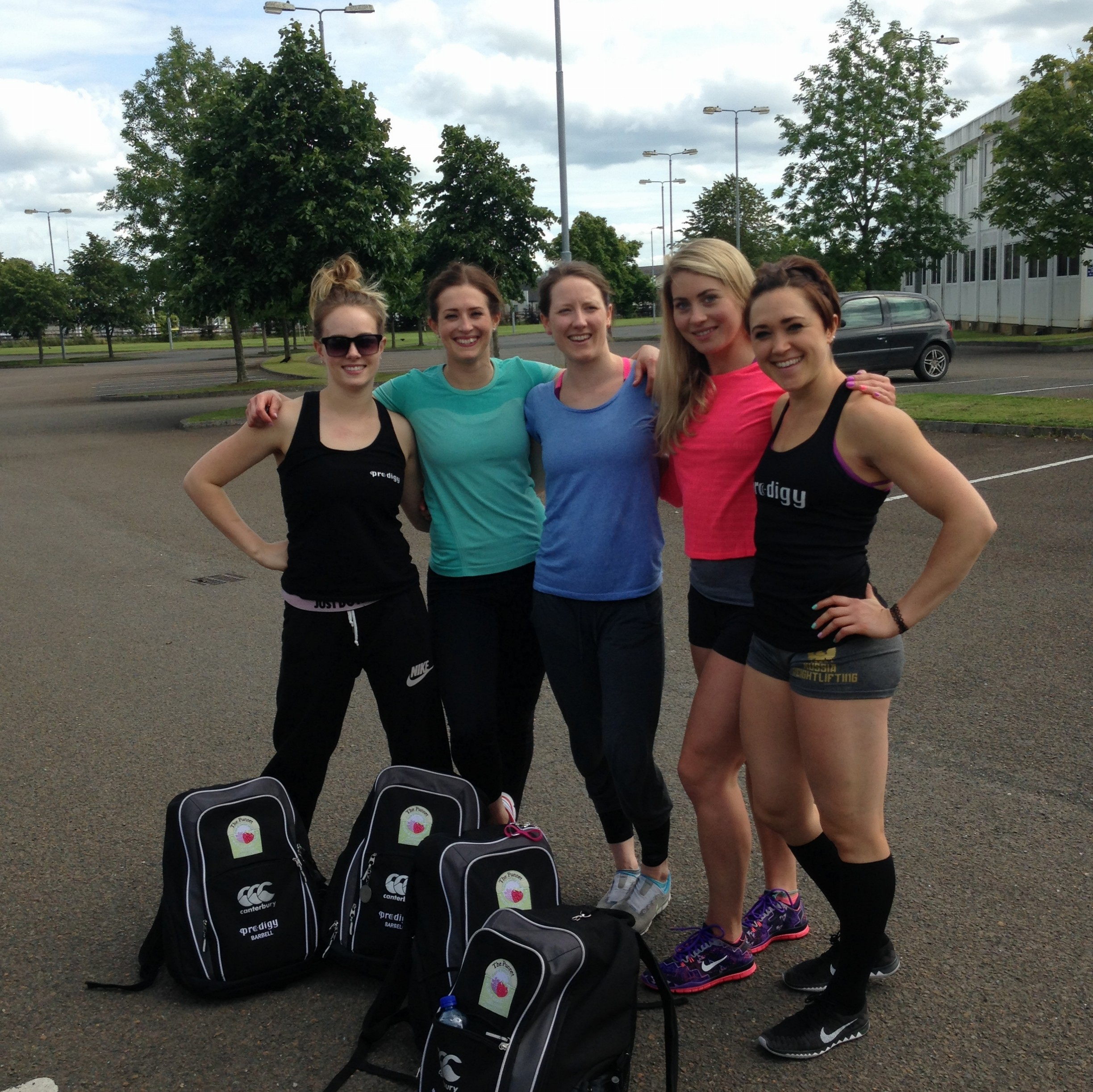 The Gurrrrls My team was myself and my besties, Katey Byrd, Aoife MacNeill  and Emma Dowling. We were happy(ish) with our lifts (we're never fully  satisfied) ...
